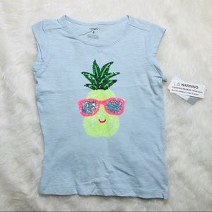 🖤 5 for $20 : NWT Carter's Blue T shirt pinapple